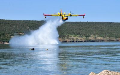 Protupožarne zračne snage HRZ-a gasile požar na Braču