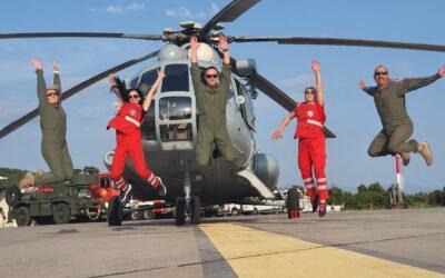 Helikopterske medicinske intervencije, potpora HRZ-a u traganju i spašavanju te gašenju požara